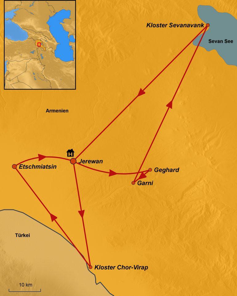 stepmap-karte-armenien,-zu-den-wiegen-des-christentums