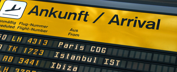 Ankunft, Flughafen, Flugreisen, Arche Noah Reisen