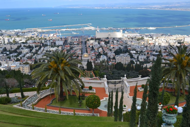 Bahai Gärten, Haifa, Reise mit Pfarrer , Pilgern Israel, Organisierte Pilgerreise