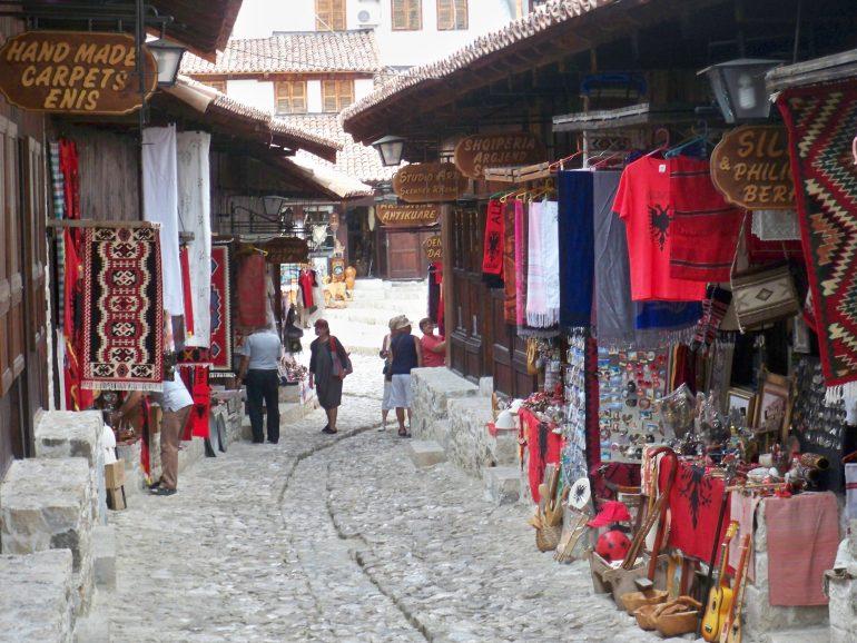 Past and present journeys - Kruja Bazaar