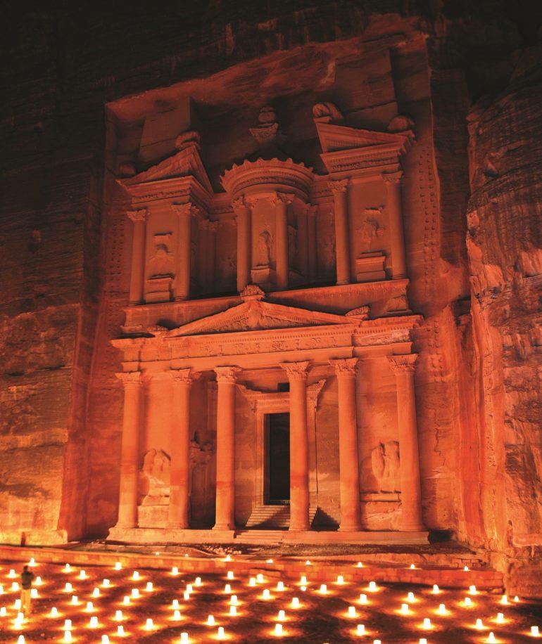 Petra by night, Jordanienreise, Zubucherreise, Arche Noah Reisen