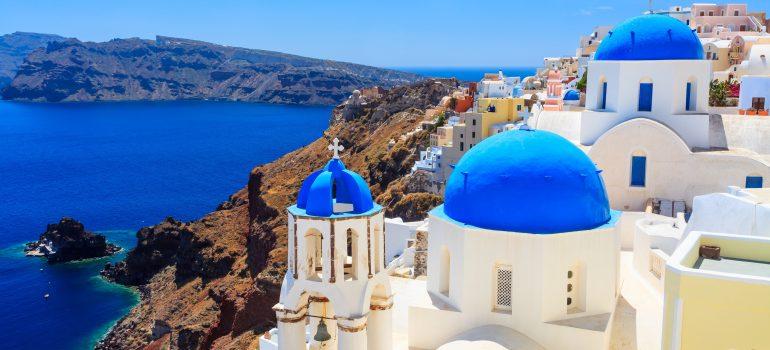 Inselhypfen Kykladen, Santorini, Caldera, Küste, Kykladen, Griechenland