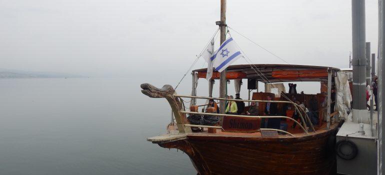 Israel, See Genezareth, Foto: Michelle Fischer, Bootsfahrt auf dem See Genezareth, Pilgerfahrt Israel, Pilgerreiseveranstalter, Arche Noah Reisen