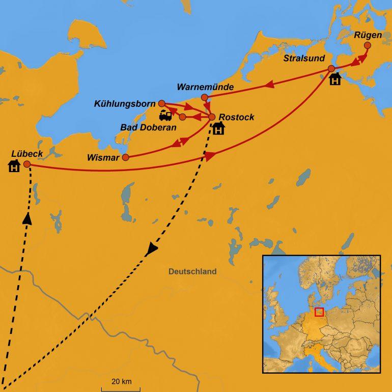 Ostsee 2020, Ihre Reiseroute, www.stepmap.de