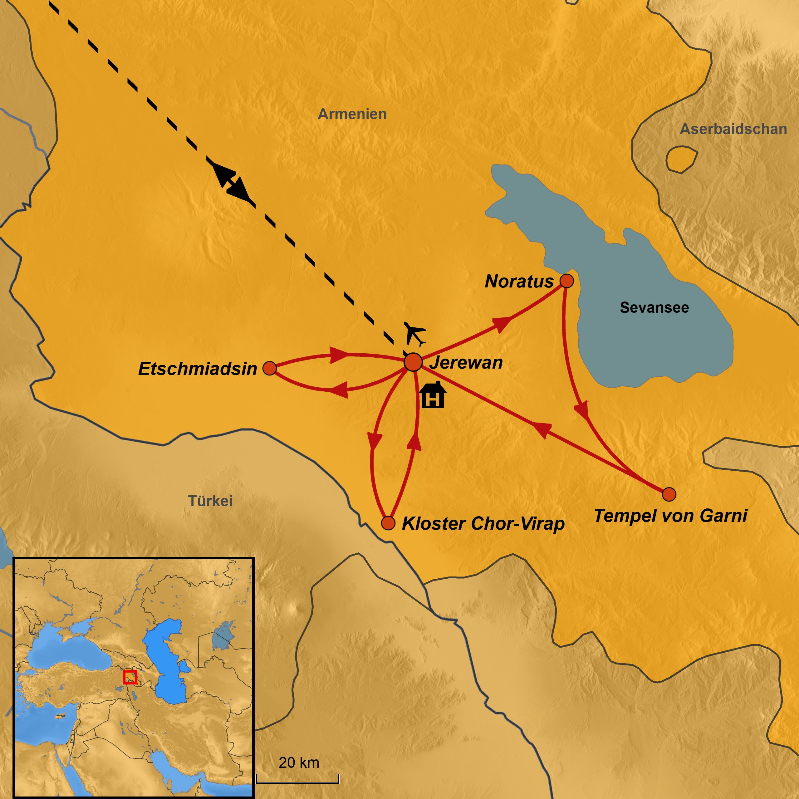 Armenien Karte.Gruppenreise Armenien Arche Noah Reisen Verschiedene Termine