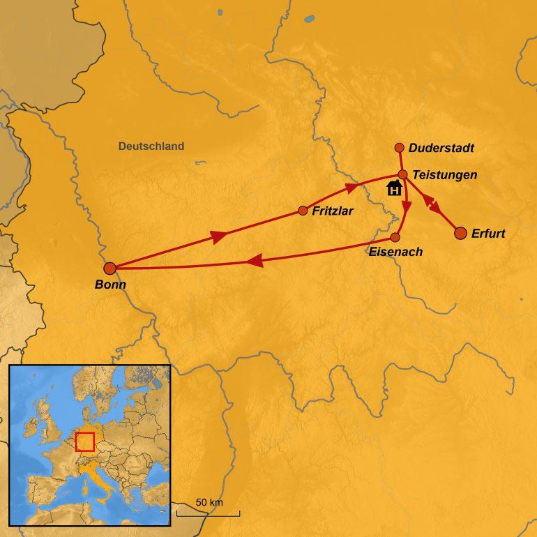 StepMap-Karte, Bonner Münster-Bauverein, Eichsfelder Kulturland