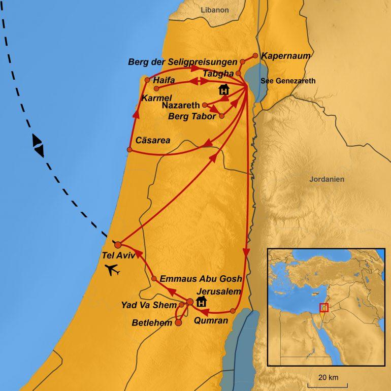 StepMap-Karte, Israel