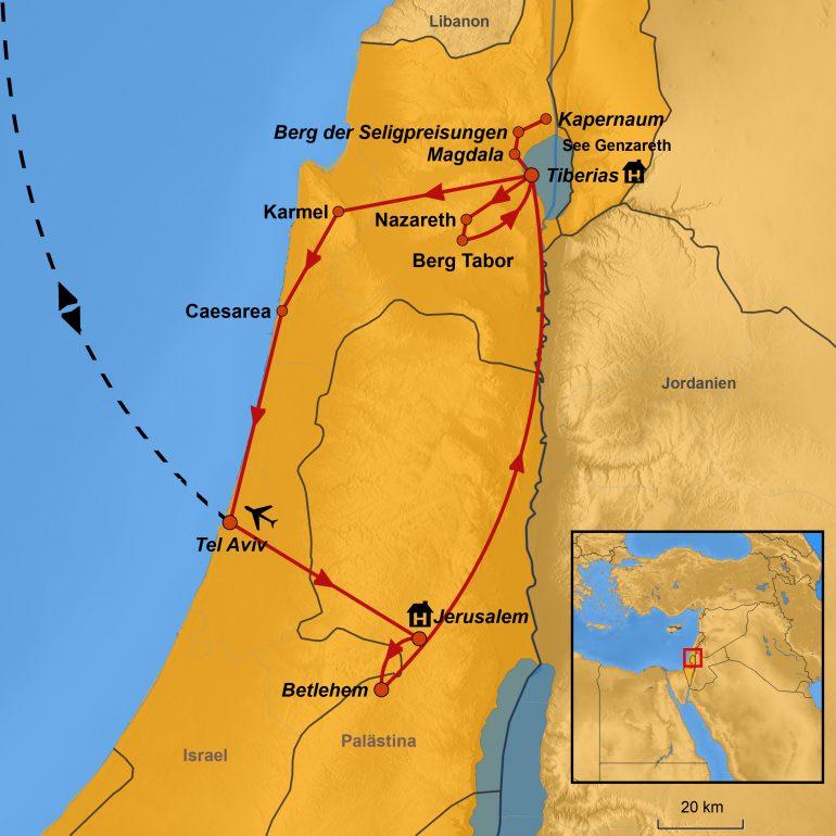 StepMap-Karte Auszeit Israel