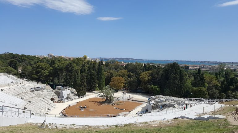 Syrakus - Griechisches Theater, Gruppenreise Sizilien, Arche Noah Reisen