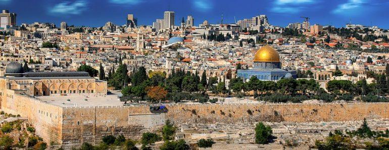Stadt Jerusalem, Gruppenreise, Pilgern, Israel, Heiliges Land, Blick auf die Stadt Jerusalem