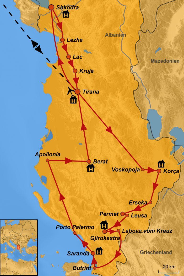 stepmap-karte-albanien