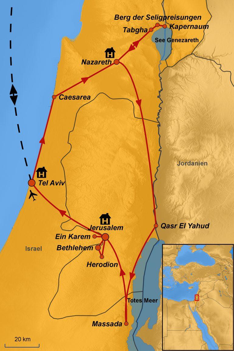 Rundreise Israel, Weihnachten im Heiligen Land